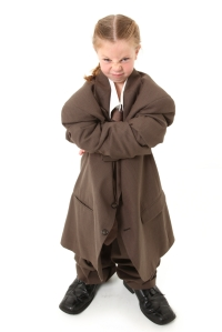 Child in Oversized Suit
